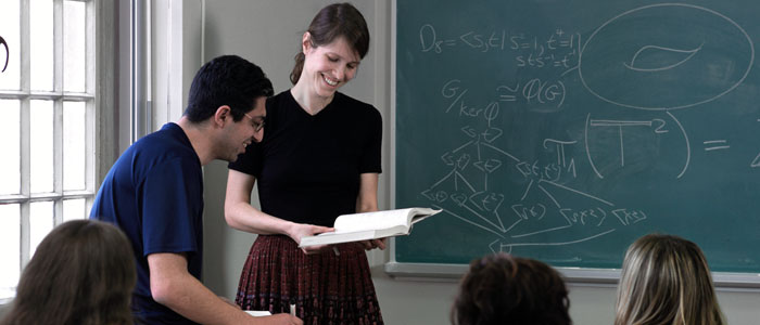 Math Dept. female professor
